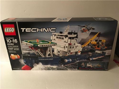 LEGO Technic 42064 Ocean Explorer 2-in-1 Push Boat /& Barge Sealed Boat Sub Crane