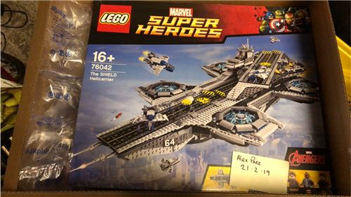SHIELD Helicarrier NISB, Lego 76042, Alex Price, Super Heroes, Poynton