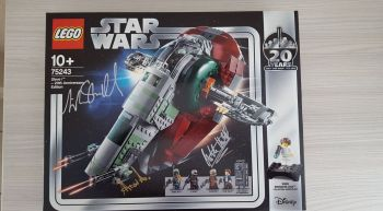 Lego Star Wars 75243 Slave One 20 Year with authographs, Lego 75243, Miquel Lanssen (Brickslan), Star Wars, Nieuwpoort