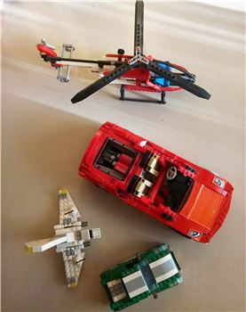 Ferrari Racer Spider / Technic Rescue Helicopter / Creator , Lego 8671 / 8046 / 6743 , Letta , Racers, Athens