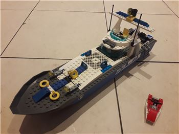 Police Boat 100% Brick Complete, 7287, Martin Williams, City, Pontypridd