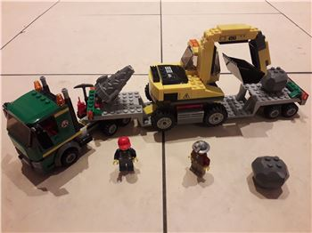 Excavator Transport 100% Brick Complete with Minifigures, 4203, Martin Williams, City, Pontypridd