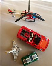 Ferrari f1 / Racer Spider / Technic Rescue Helicopter / Creator, Lego 8157 / 8671 / 8046 / 6743 , Letta , Racers, Athens
