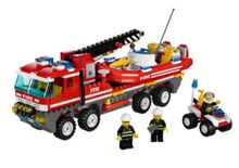 Off road fire truck and boat, Lego 7213, Paula, City, Bedfordshire