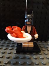 Lobster Lovin' Batman minifigure The LEGO Batman Movie Series 1 Complete 71017, Lego 71017, NiksBriks, Minifigures, Skipton, UK