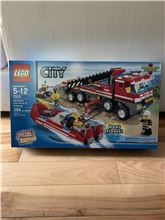 Off road fire truck and fireboat, Lego 7213, mike a, City, Oakville