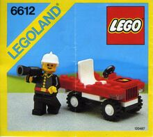 Vintage Fire Chief's Car, Lego, Creations4you, City, Worcester