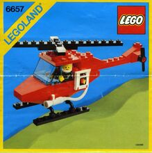 Vintage Patrol Helicopter, Lego, Creations4you, City, Worcester