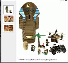 Lego Treasure Raider with Mummy container, Lego 5909, Margaux Nell, Adventurers, Secunda