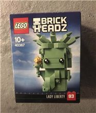 Lady Liberty Brick Headz, Lego 40367, Dan Bricks, BrickHeadz, North Wales