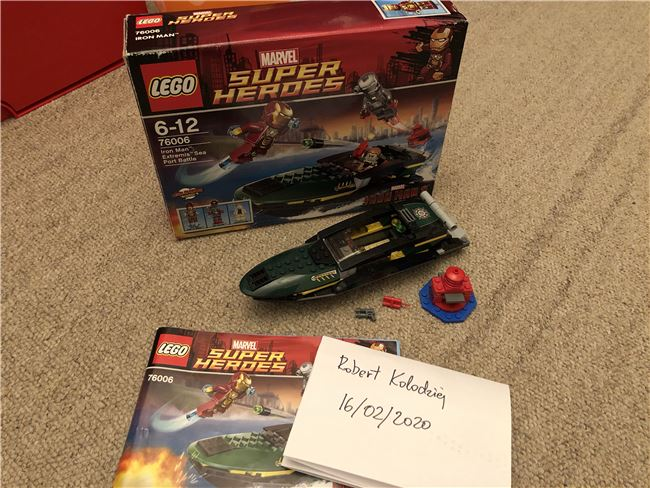 76006 Iron Man Extremis Sea Port Battle (Incomplete), Lego 76006, Robert Kolodziej, Super Heroes, Swindon, Image 2
