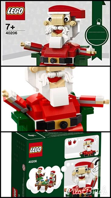 Exclusive Holiday Santa, Lego, Creations4you, BrickHeadz, Worcester, Image 4