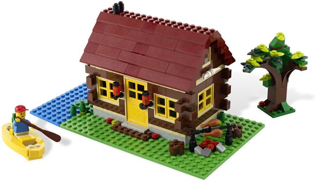 L👀K at 5766 Log Cabin, Lego 5766, Ted Logan, City, Aberglasslyn, Image 3