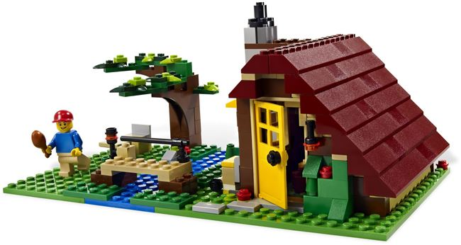 L👀K at 5766 Log Cabin, Lego 5766, Ted Logan, City, Aberglasslyn, Image 2