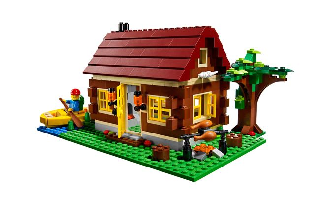 L👀K at 5766 Log Cabin, Lego 5766, Ted Logan, City, Aberglasslyn, Image 5
