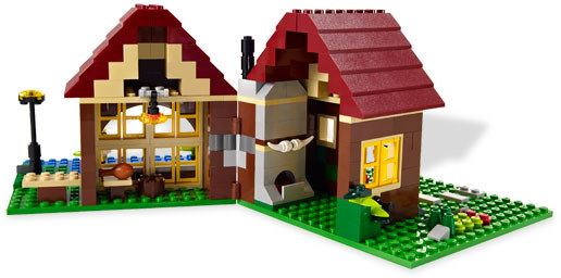L👀K at 5766 Log Cabin, Lego 5766, Ted Logan, City, Aberglasslyn, Image 4