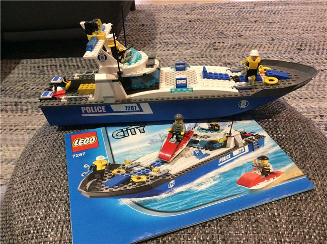 LEGO City Police boat, Lego 7287, Graham White , City, Perth